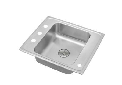 "Image for Elkay Lustertone Stainless Steel 25"" x 22"" x 6"", Single Bowl Top Mount Classroom Sink with Perfect Drain from ELKAY"