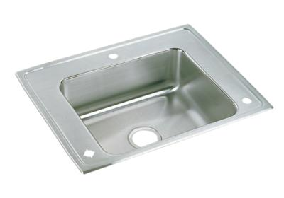 "Image for Elkay Lustertone Stainless Steel 28"" x 22"" x 7-5/8"", Single Bowl Top Mount Classroom Sink from ELKAY"