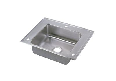 "Image for Elkay Lustertone Stainless Steel 28"" x 22"" x 4-1/2"", Single Bowl Top Mount Classroom Sink + Faucet/Bubbler Kit from ELKAY"