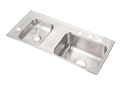 "Image for Elkay Lustertone Stainless Steel 37-1/4"" x 17"" x 4-1/2"", Double Bowl Top Mount Classroom ADA Sink from ELKAY"