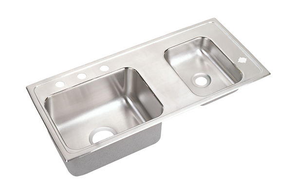Lustertone® Stainless Steel Double Bowl Top Mount Sink