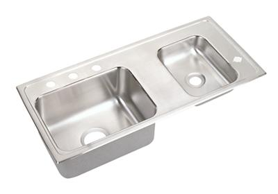 "Image for Elkay Lustertone Stainless Steel 37-1/4"" x 17"" x 6-1/2"", Double Bowl Top Mount Classroom Sink from ELKAY"