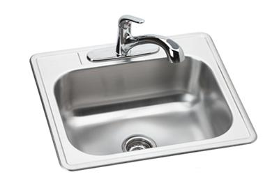 "Image for Dayton Stainless Steel 25"" x 22"" x 8-1/16"", Single Bowl Top Mount Sink and Faucet Kit from ELKAY"