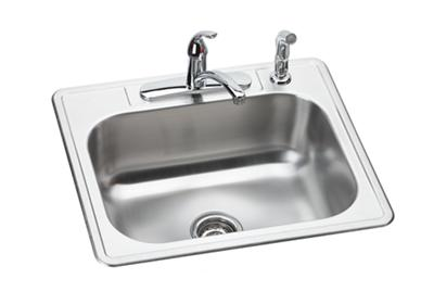 "Image for Dayton Stainless Steel 25"" x 22"" x 8-1/16"", Single Bowl Drop-in Sink and Faucet Kit from ELKAY"