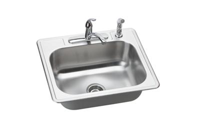 "Image for Dayton Stainless Steel 25"" x 22"" x 8-1/16"", Single Bowl Top Mount Sink Kit from ELKAY"