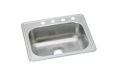 "Image for Dayton Stainless Steel 25"" x 22"" x 8-1/16"", Single Bowl Top Mount Sink from ELKAY"