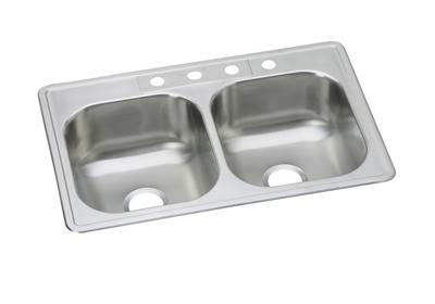 Image for Dayton Elite Stainless Steel Double Bowl Top Mount Sink from ELKAY