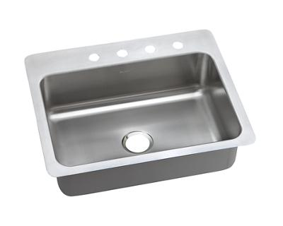 Image for Dayton Elite Stainless Steel Single Bowl Dual / Universal Mount Sink from elkay-consumer
