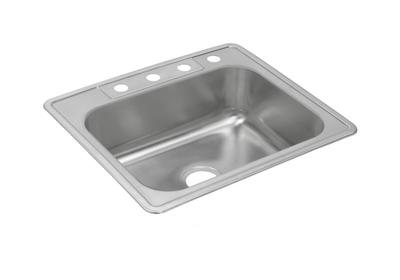 "Image for Dayton Stainless Steel 25"" x 22"" x 8-3/16"", Single Bowl Top Mount Sink from ELKAY"