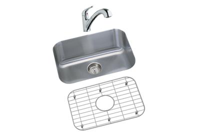 "Image for Dayton Stainless Steel 23-1/2"" x 18-1/4"" x 8"", Single Bowl Undermount Sink and Faucet Kit from ELKAY"