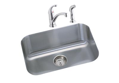 "Image for Dayton Stainless Steel 23-1/2"" x 18-1/4"" x 8"", Single Bowl Undermount Sink Kit from ELKAY"