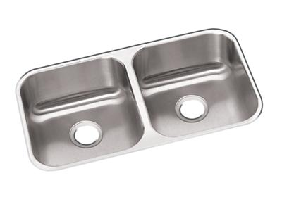 "Image for Dayton Stainless Steel 31-3/4"" x 18-1/4"" x 8"", Equal Double Bowl Undermount Sink from ELKAY"