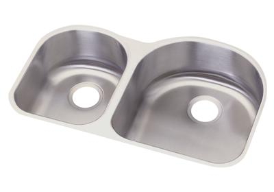 "Image for Dayton Stainless Steel 31-1/4"" x 20"" x 8"", Offset 40/60 Double Bowl Undermount Sink from ELKAY"