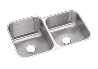 "Image for Dayton Stainless Steel 31-3/4"" x 20-1/2"" x 10"", Offset Double Bowl Undermount Sink from ELKAY"