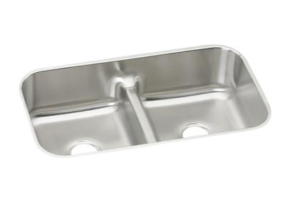 "Image for Elkay Lustertone Stainless Steel 32-1/2"" x 18-1/8"" x 8"", Equal Double Bowl Undermount Sink with Aqua Divide from ELKAY"