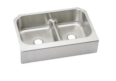 "Image for Elkay Lustertone Classic Stainless Steel 34-5/8"" x 23-1/16"" x 8-3/4"", 60/40 Double Bowl Farmhouse Sink w/Aqua Divide from ELKAY"