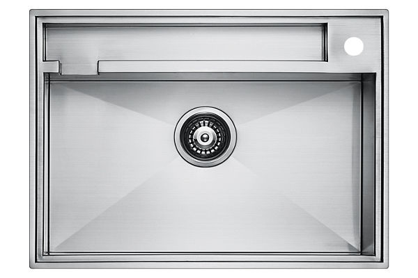 Stainless Steel 671 x 485 x 226 Single Bowl Top Mount/Undermount Kitchen Sink