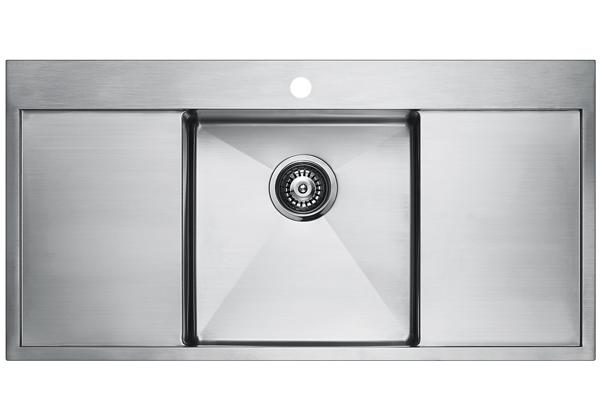 Image for Stainless Steel 1001 x 511 x 196 Single Bowl With Double Drainer Top Mount Kitchen Sink from Elkay Europe and Africa