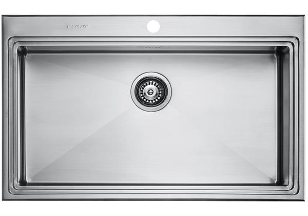 Image for Stainless Steel 861 x 531 x 221 Single Bowl Top Mount Kitchen Sink from Elkay Europe and Africa