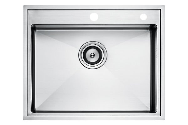 Stainless Steel 572 x 468 x 216 Single Bowl Top Mount Kitchen Sink