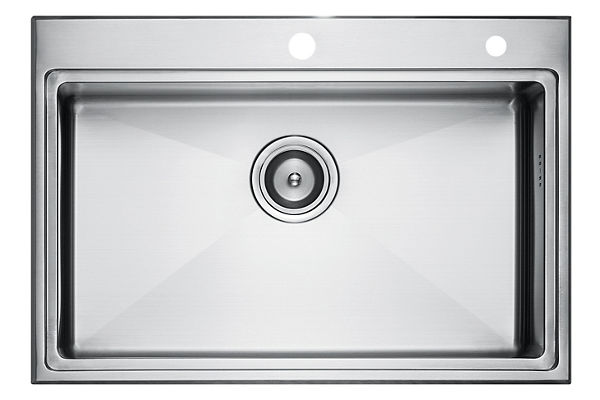 Stainless Steel 701 x 483 x 216 Single Bowl Top Mount Kitchen Sink