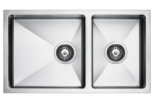 Stainless Steel 762 x 429 x 206 Double Bowl Undermount Kitchen Sink
