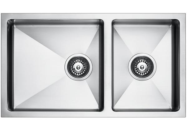 Image for Stainless Steel 762 x 429 x 206 Double Bowl Undermount Kitchen Sink from Elkay Middle East