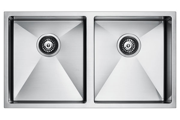 Stainless Steel 818 x 457 x 236 Double Bowl Undermount Kitchen Sink