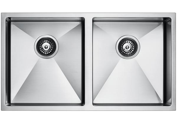 Image for Stainless Steel 818 x 457 x 236 Double Bowl Undermount Kitchen Sink from Elkay Middle East