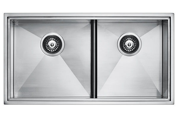 Stainless Steel 815 x 439 x 236 Double Bowl Top Mount/Undermount Kitchen Sink
