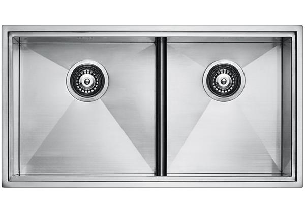 Image for Stainless Steel 815 x 439 x 236 Double Bowl Top Mount/Undermount Kitchen Sink from Elkay Middle East