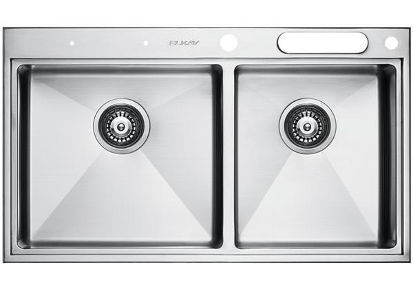 Image for Stainless Steel 841 x 490 x 216 Double Bowl Top Mount Kitchen Sink from Elkay Middle East