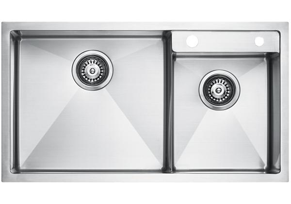 Image for Stainless Steel 803 x 450 x 226 Double Bowl Top Mount Kitchen Sink from Elkay Middle East