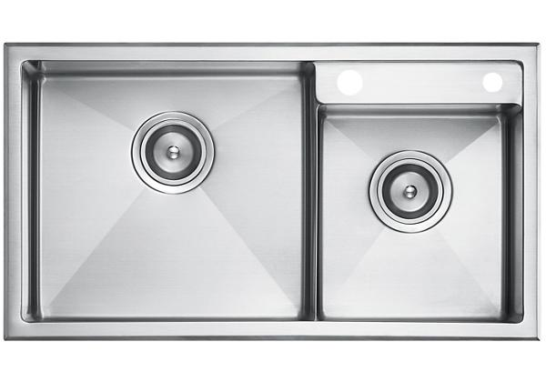 Image for Stainless Steel 734 x 409 x 211 Double Bowl Top Mount Kitchen Sink from Elkay Latin America