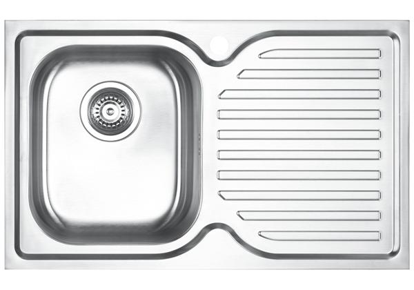 Image for Stainless Steel 780 x 480 x 198 Single Bowl With One Drainer Top Mount Kitchen Sink from Elkay Middle East