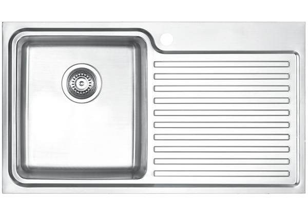 Image for Stainless Steel 841 x 480 x 213 Single Bowl With One Drainer Top Mount Kitchen Sink from Elkay Asia Pacific