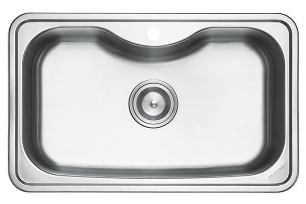 Stainless Steel 800 x 500 x 218 Single Bowl Top Mount Kitchen Sink