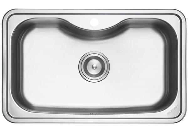 Image for Stainless Steel 800 x 500 x 218 Single Bowl Top Mount Kitchen Sink from Elkay Middle East
