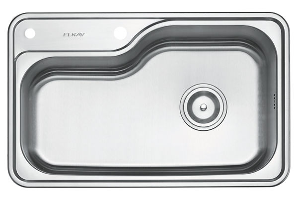 Stainless Steel 800 x 500 x 216 Single Bowl Top Mount Kitchen Sink