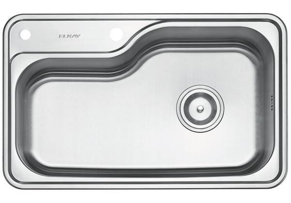 Image for Stainless Steel 800 x 500 x 216 Single Bowl Top Mount Kitchen Sink from Elkay Middle East