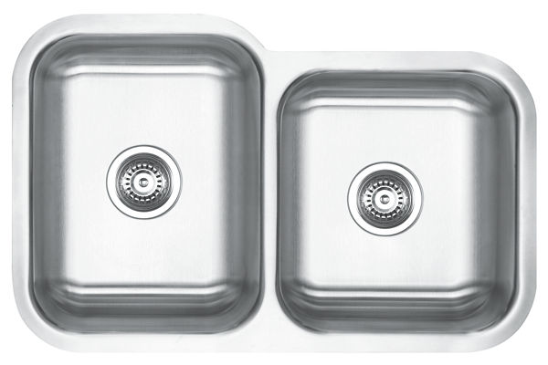 Stainless Steel 795 x 521 x 259 Double Bowl Undermount Kitchen Sink