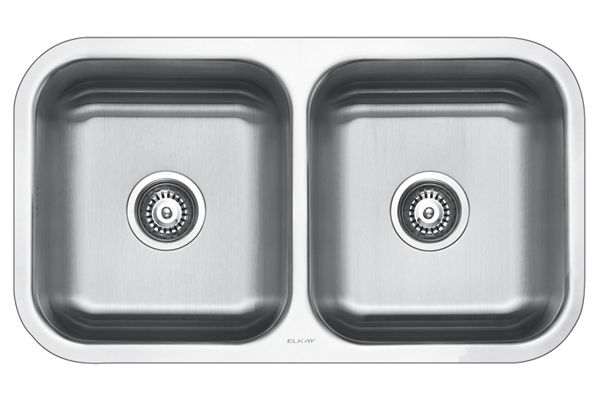 Stainless Steel 808 x 465 x 211 Double Bowl Undermount Kitchen Sink