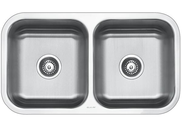 Image for Stainless Steel 808 x 465 x 211 Double Bowl Undermount Kitchen Sink from Elkay Middle East