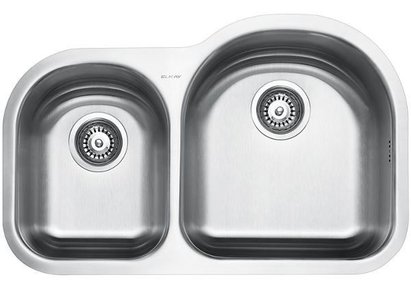 Image for Stainless Steel 795 x 508 x 211 Double Bowl Undermount Kitchen Sink from Elkay Middle East