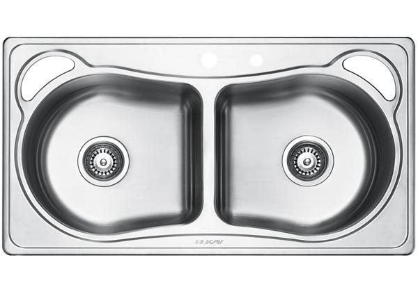 Image for Stainless Steel 899 x 480 x 213 Double Bowl Top Mount Kitchen Sink from Elkay Asia Pacific