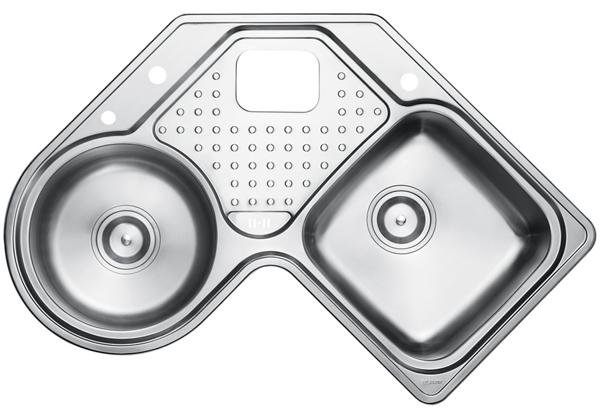 Image for Stainless Steel 899 x 899 x 221 Double Bowl With One Drainer Top Mount Kitchen Sink from Elkay Asia Pacific