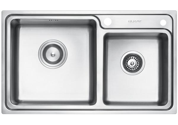 Image for Stainless Steel 810 x 480 x 231 Double Bowl Top Mount Kitchen Sink from Elkay Middle East