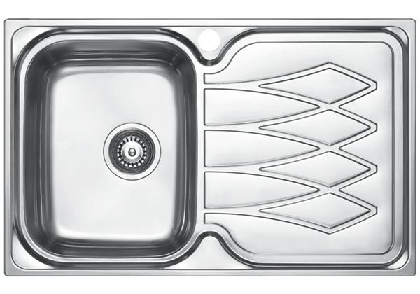 Image for Stainless Steel 798 x 498 x 191 Single Bowl With One Drainer Top Mount Kitchen Sink from Elkay Middle East