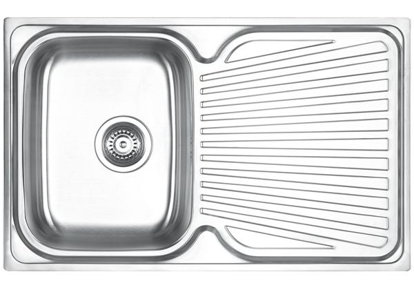 Image for Stainless Steel 800 x 500 x 191 Single Bowl With One Drainer Top Mount Kitchen Sink from Elkay Europe and Africa
