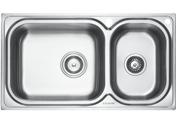 Image for Stainless Steel 889 x 500 x 221 Double Bowl Top Mount Kitchen Sink from Elkay Middle East